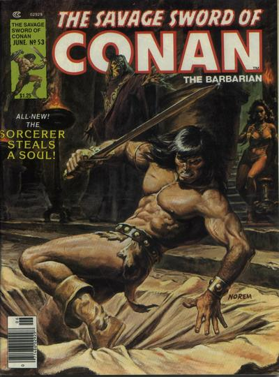 Cover for The Savage Sword of Conan (Marvel, 1974 series) #53