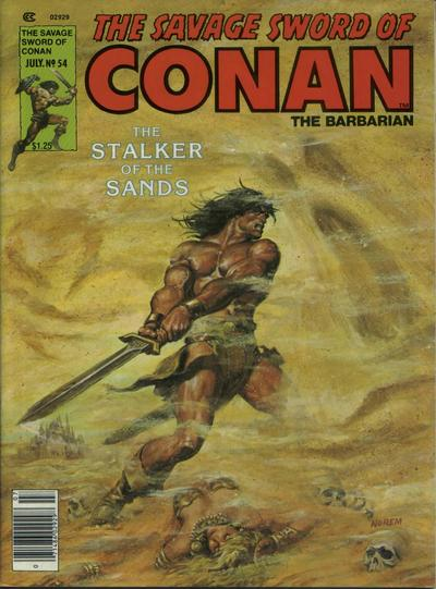 Cover for The Savage Sword of Conan (Marvel, 1974 series) #54
