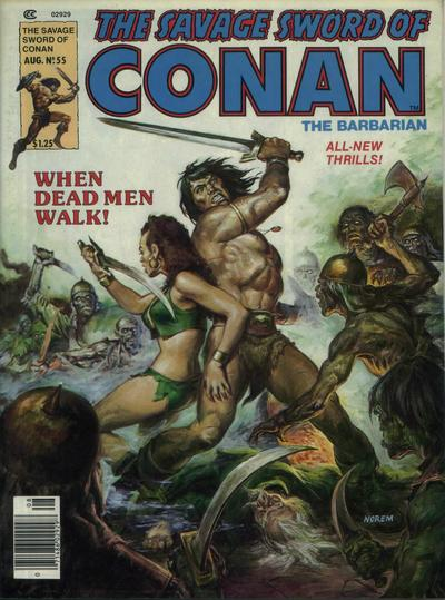 Cover for The Savage Sword of Conan (Marvel, 1974 series) #55
