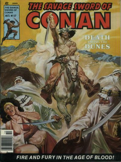 Cover for The Savage Sword of Conan (Marvel, 1974 series) #57
