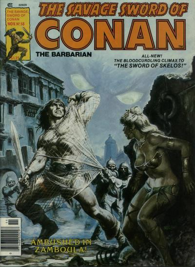 Cover for The Savage Sword of Conan (Marvel, 1974 series) #58