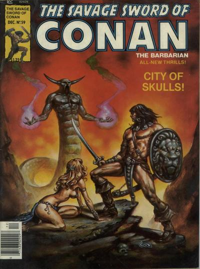 Cover for The Savage Sword of Conan (Marvel, 1974 series) #59