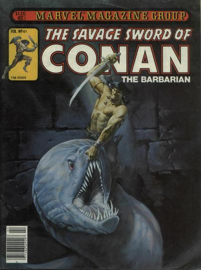 Cover for The Savage Sword of Conan (Marvel, 1974 series) #61