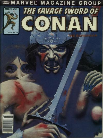 Cover for The Savage Sword of Conan (Marvel, 1974 series) #62