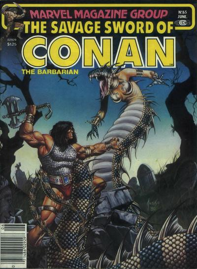 Cover for The Savage Sword of Conan (Marvel, 1974 series) #65