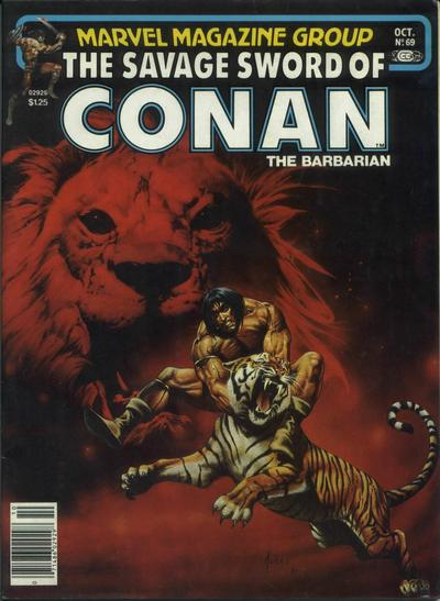 Cover for The Savage Sword of Conan (Marvel, 1974 series) #69