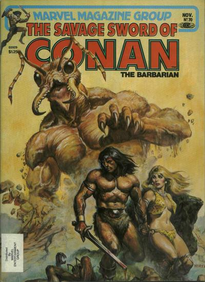 Cover for The Savage Sword of Conan (Marvel, 1974 series) #70