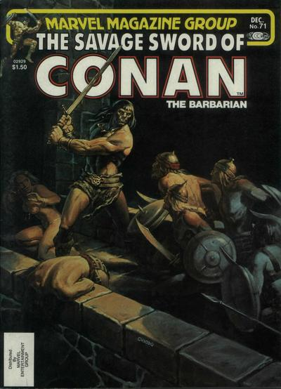 Cover for The Savage Sword of Conan (Marvel, 1974 series) #71