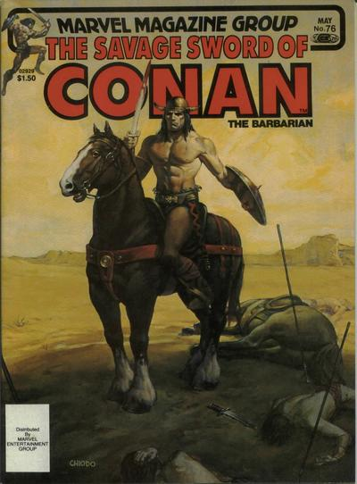 Cover for The Savage Sword of Conan (Marvel, 1974 series) #76