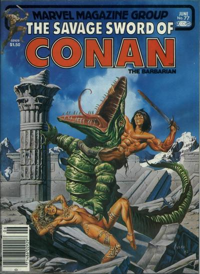 Cover for The Savage Sword of Conan (Marvel, 1974 series) #77