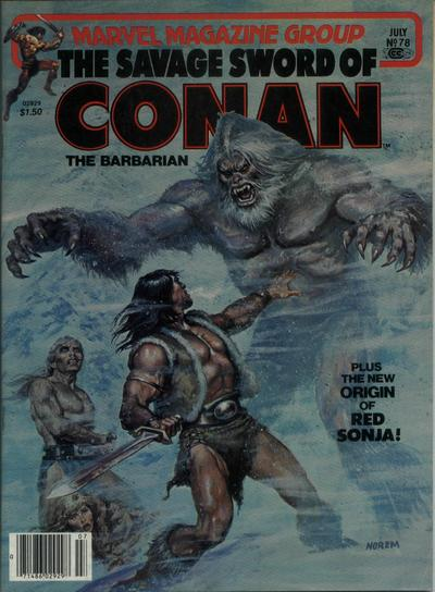 Cover for The Savage Sword of Conan (Marvel, 1974 series) #78
