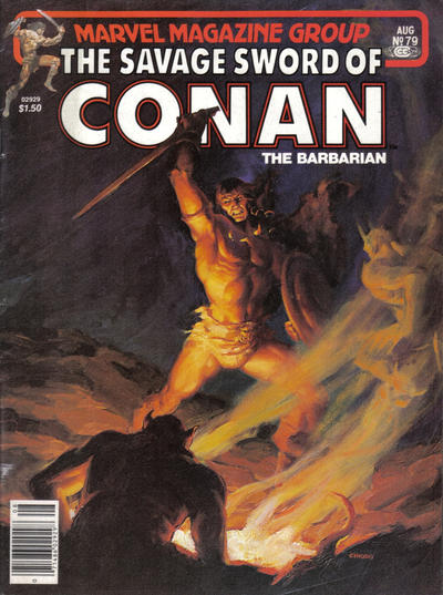 Cover for The Savage Sword of Conan (Marvel, 1974 series) #79