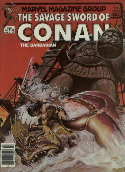 Cover for The Savage Sword of Conan (Marvel, 1974 series) #80
