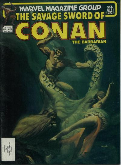 Cover for The Savage Sword of Conan (Marvel, 1974 series) #81