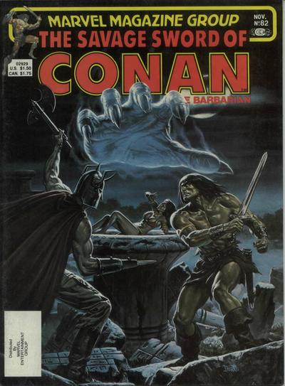 Cover for The Savage Sword of Conan (Marvel, 1974 series) #82