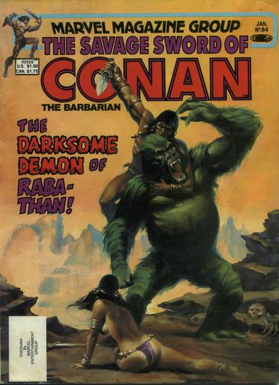 Cover for The Savage Sword of Conan (Marvel, 1974 series) #84