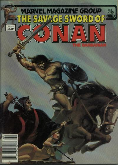 Cover for The Savage Sword of Conan (Marvel, 1974 series) #85