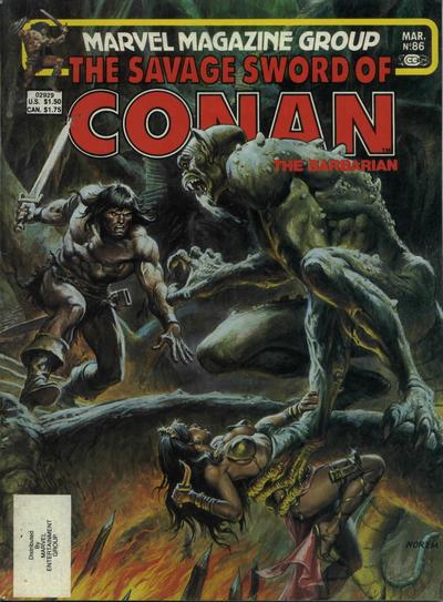 Cover for The Savage Sword of Conan (Marvel, 1974 series) #86