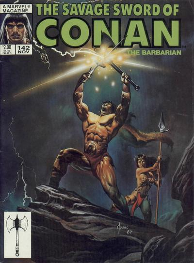Cover for The Savage Sword of Conan (Marvel, 1974 series) #142