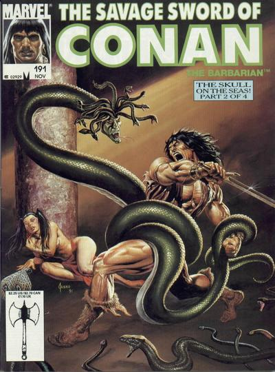 Cover for The Savage Sword of Conan (Marvel, 1974 series) #191
