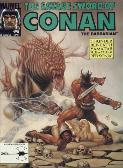 Cover for The Savage Sword of Conan (Marvel, 1974 series) #195