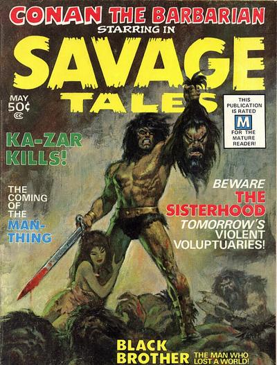 Cover for Savage Tales (Marvel, 1971 series) #1