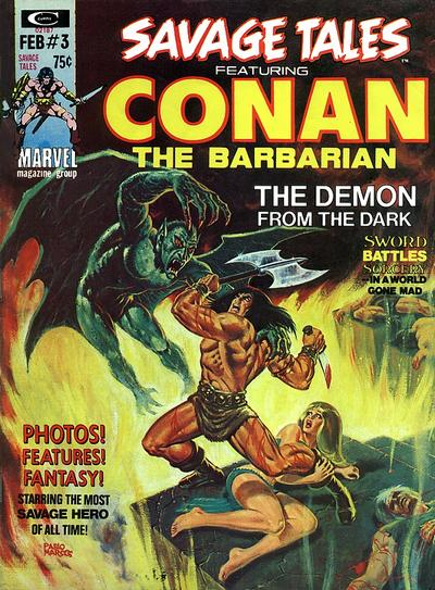Cover for Savage Tales (Marvel, 1971 series) #3