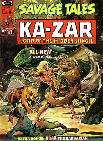 Cover for Savage Tales (Marvel, 1971 series) #6