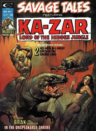 Cover for Savage Tales (Marvel, 1971 series) #7