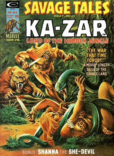 Cover for Savage Tales (Marvel, 1971 series) #8