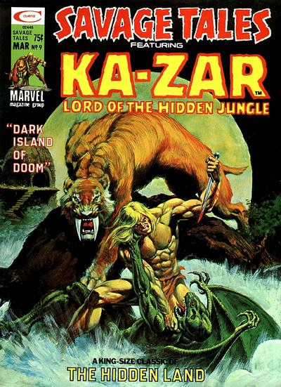 Cover for Savage Tales (Marvel, 1971 series) #9