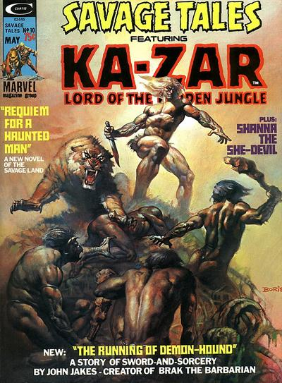 Cover for Savage Tales (Marvel, 1971 series) #10