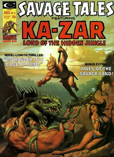 Cover for Savage Tales (Marvel, 1971 series) #11