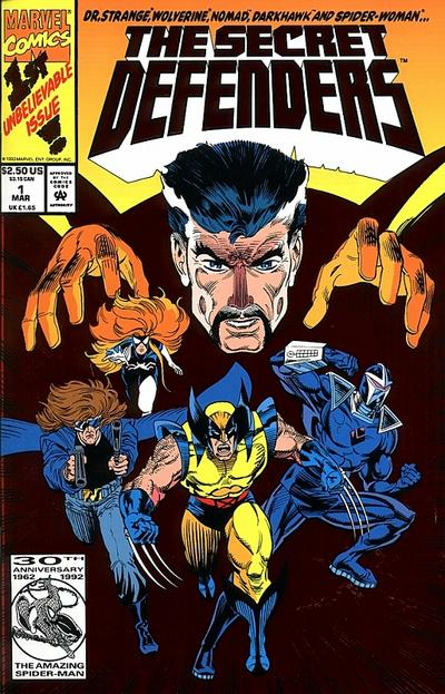 Cover for The Secret Defenders (Marvel, 1993 series) #1 [Direct]