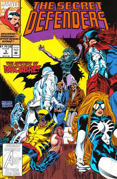Cover for The Secret Defenders (Marvel, 1993 series) #3