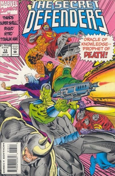Cover for The Secret Defenders (Marvel, 1993 series) #13