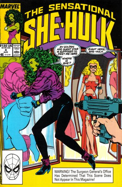 Cover for The Sensational She-Hulk (Marvel, 1989 series) #4