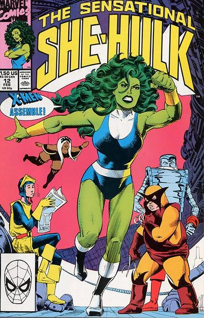 Cover for The Sensational She-Hulk (Marvel, 1989 series) #12