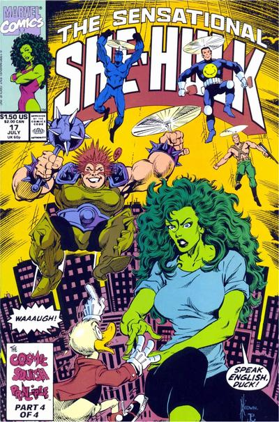 Cover for The Sensational She-Hulk (Marvel, 1989 series) #17