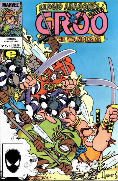 Cover for Sergio Aragonés Groo the Wanderer (Marvel, 1985 series) #6 [Direct Edition]