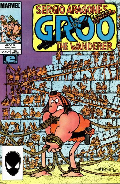Cover for Sergio Aragonés Groo the Wanderer (Marvel, 1985 series) #14 [Direct Edition]