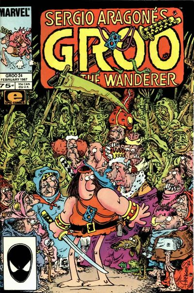 Cover for Sergio Aragonés Groo the Wanderer (Marvel, 1985 series) #24 [Direct Edition]