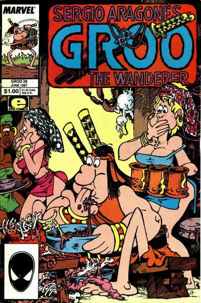 Cover for Sergio Aragonés Groo the Wanderer (Marvel, 1985 series) #28 [Direct Edition]