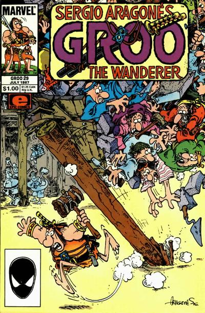 Cover for Sergio Aragonés Groo the Wanderer (Marvel, 1985 series) #29 [Newsstand Edition]
