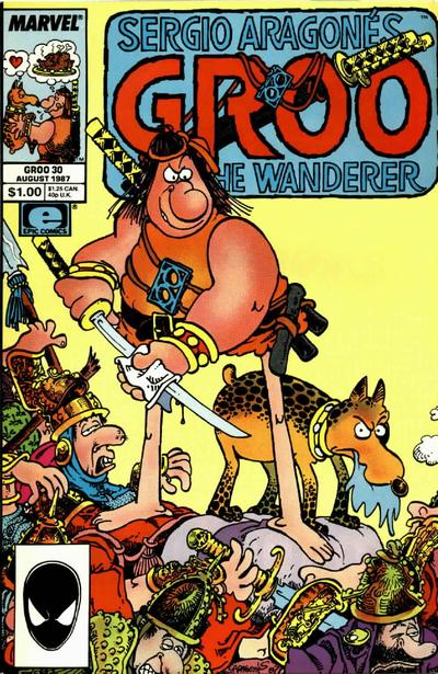 Cover for Sergio Aragonés Groo the Wanderer (Marvel, 1985 series) #30 [Direct Edition]