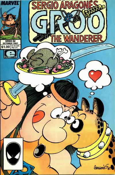 Cover for Sergio Aragonés Groo the Wanderer (Marvel, 1985 series) #32 [Direct Edition]