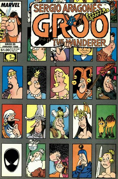 Cover for Sergio Aragonés Groo the Wanderer (Marvel, 1985 series) #35 [Direct Edition]