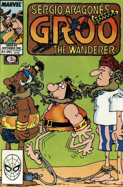Cover for Sergio Aragonés Groo the Wanderer (Marvel, 1985 series) #43 [Direct Edition]