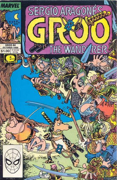 Cover for Sergio Aragonés Groo the Wanderer (Marvel, 1985 series) #44 [Direct Edition]