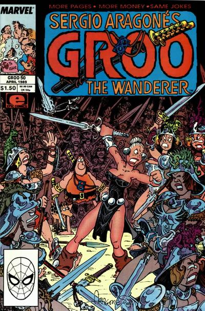 Cover for Sergio Aragonés Groo the Wanderer (Marvel, 1985 series) #50 [Newsstand Edition]